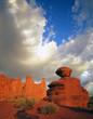 fisher towers & sandstone boulder (v)