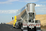 tanker truck on the road poster