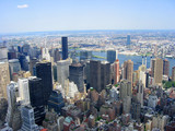 new york city skyline north from empire state bldg poster