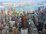 new york city skyline east from empire state bldg poster