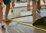 lavage du pont du voilier poster
