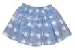 light blue children girl jeans mini skirt isolated