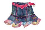blue children girl mini skirt isolated poster