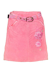 pink children girl skirt isolated