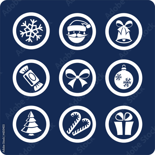 christmas and new year icons  (set 1, part 1)