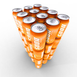 soda pack orange poster