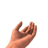 main prendre blanc poster