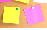 colorful post it notes poster