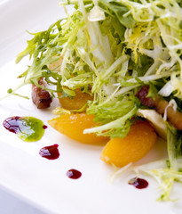 frizee salad with apricots