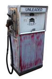 abandoned gas pump poster