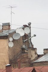 dish-shaped aerials