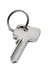 single apartment key w/ ring (front view)