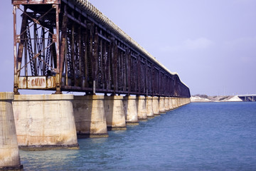 flagler railroad bridge near bahia honda state par