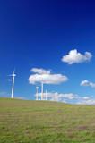 windmills in field poster