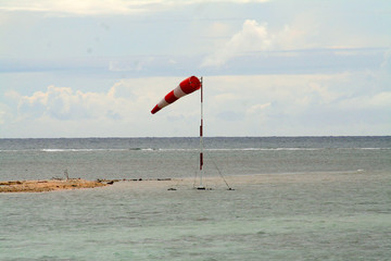 windsock on an island