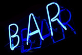 abstract neon sign bar poster