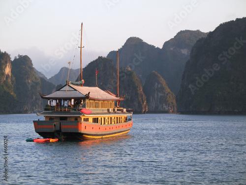 junk cruise on halong bay, vietnam