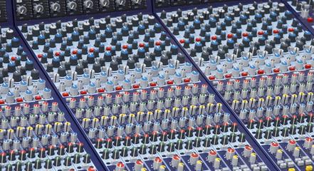 part of the mixer desk