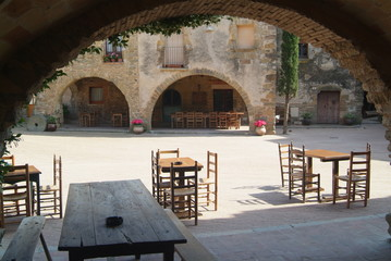 terrasse de restaurant sur place