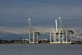 port cranes poster