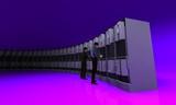 server violet galbe line poster