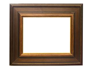dark wooden picture frame w/ path