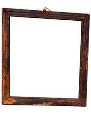 weathered bevelled wooden frame w/ path