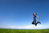 woman jumping poster