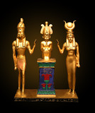 egyptian statues poster