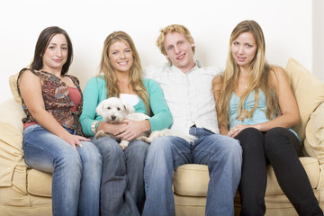 four friends and a dog