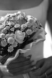wedding bouquet. b/w poster