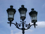 paris lamp post poster