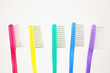 rainbow toothbrushes
