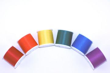 rainbow of thread