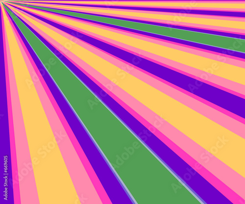 poster of colorful diagonal rays background