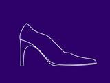 high heel shoe poster