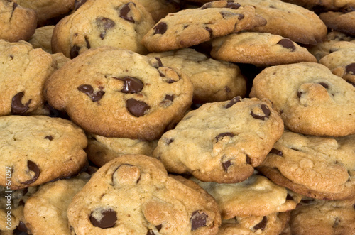 Foto op Aluminium Bakkerij chocolate chip cookies