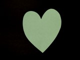 light green paper heart