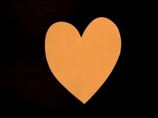 orange paper heart