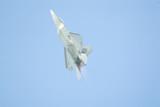 f22 raptor fighter on full afterburner poster