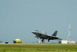f22 raptor fighter jet landing poster