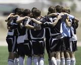 soccer team huddle poster