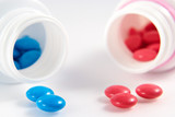 multi-coloured tablets poster