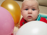 six month and three ballons poster