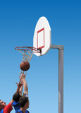 basketball players - sport competition poster