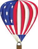 balloon illustration in us flag colors poster
