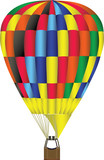colorful hot air balloon illustration poster
