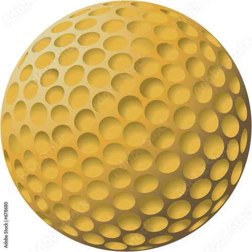 gold golf ball illustration