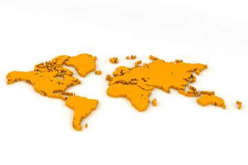 world map flat 2