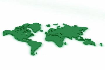 world map flat 4